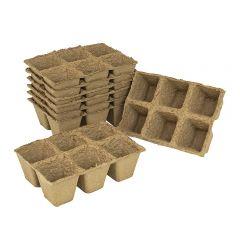 Grow It - 6cm Square Fibre Pots - Pack of 48