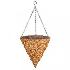 "Smart Garden - 14"" Deco Faux Rattan Hanging Cone"