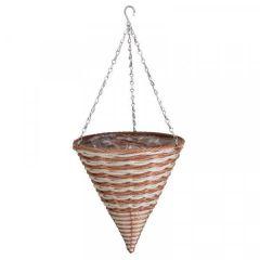 "Smart Garden - 14"" Duet Faux Rattan Hanging Cone"