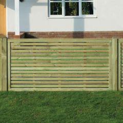KDM - 3' Slatted Border Fence Panel