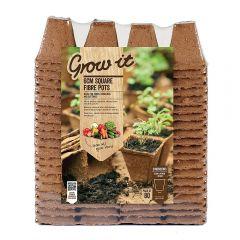 Grow It - 6cm Square Fibre Pots - Pack of 80