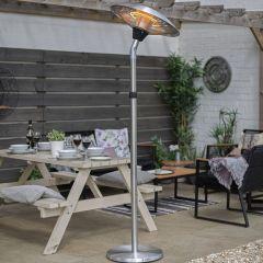 La Hacienda - Adjustable Silver Standing Heater