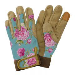 Kent & Stowe - Aqua Peony Print Comfort Gloves