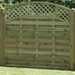 KDM 6' Arched Lattice Top Fence Panel
