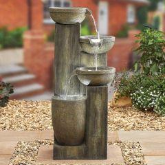 Ash Columns Water Feature inc LEDS