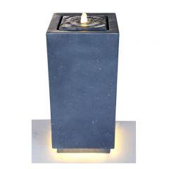 Hamac - Black Bubbling Column Water Feature inc LEDS