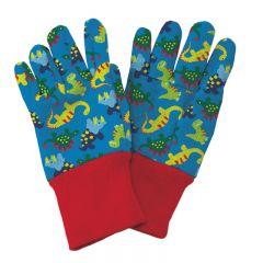Kent & Stowe - Blue Dinosaur Kids Gardening Gloves