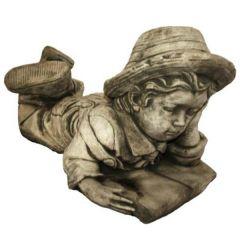 Dream Gardens - Boy & Book Stoneware Ornament