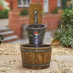 Country Charm Water Feature inc LEDS