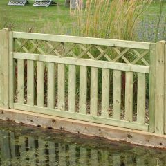 3' Cross Top Border Fence Panel