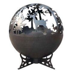 Lifestyle - Deer Globe Firepit