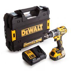 Dewalt - 18V XR Combi Drill (2 x 5.0Ah Batteries) in TStak Case