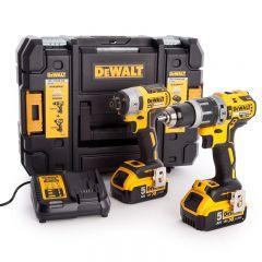Dewalt - 18V XR Combi Drill & Impact Driver Twin Pack (2 x 5.0Ah Batteries) in TSTAK Box