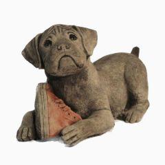 Dream Gardens - Dog With Boot Stoneware Ornament