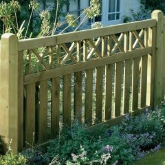 3' Elite Cross Top Border Fence Panel