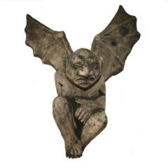 Dream Gardens - Flying Gargoyle Stoneware Ornament