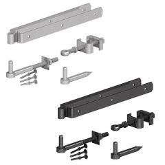 Gatemate - Field Gate Adjustable Double Strap Hinge Set