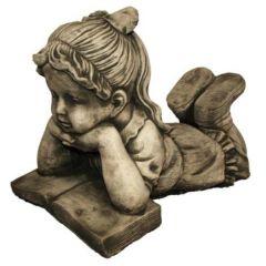 Dream Gardens - Girl & Book Stoneware Ornament