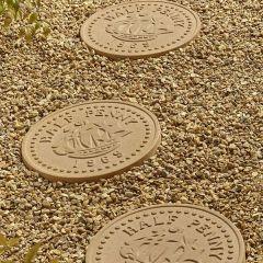 Half Penny Stepping Stone - York Gold