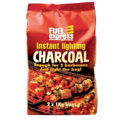 Fuel Express - Instant-Light Lumpwood Charcoal 2x1kg