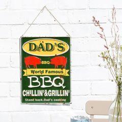 La Hacienda - 'Dad's BBQ' Wall Sign