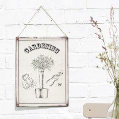 La Hacienda - 'Gardening' Wall Sign