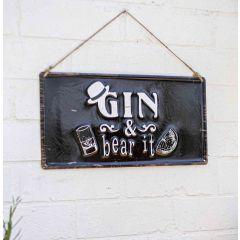 La Hacienda - 'Gin & Bear It' Wall Sign