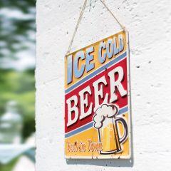La Hacienda - 'Ice Cold Beer' Wall Sign