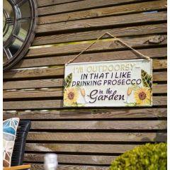 La Hacienda - 'I'm Outdoorsy' Wall Sign
