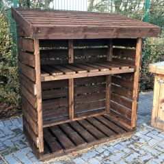 Timber Log Store made by Earlswood Garden & Landscape Centre