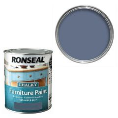 Ronseal - Chalky Furniture Paint - Midnight Blue