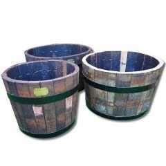 Rustic Oak Tub Planter