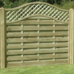 KDM Omega Lattice Top Fence Panel