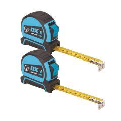Ox - Pro Dual Auto Lock Tape Measure - Twin Pack