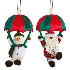 Premier - Parachuting Snowman & Santa 2 Asst