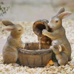 Playful Bunnies Water Feature inc LEDS