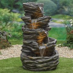 Rock Pools Water Feature inc LEDS