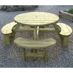 KDM - Round Table & Bench Seat