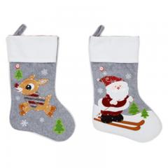Premier - LED Grey Christmas Character Stocking