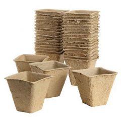 Grow It - 6cm Square Fibre Pots - Pack of 20