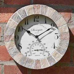 Smart Garden - Stonegate Sandstone Wall Clock & Thermometer