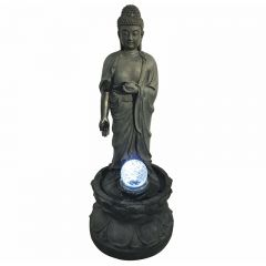 Hamac - Standing Buddha Crystal Ball Water Feature inc LEDS