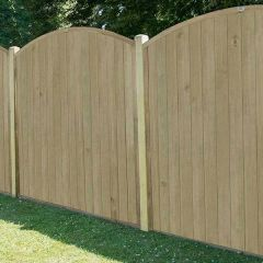 Forest - Dome Tongue And Groove Fence Panels