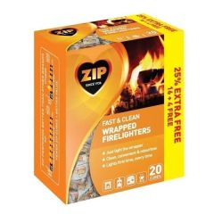Zip - Fast & Clean Wrapped Firelighters