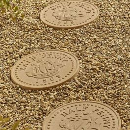 Stepping Stone Garden Orniment Of A Half Penny