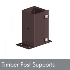 Timber Post Supports and anchors